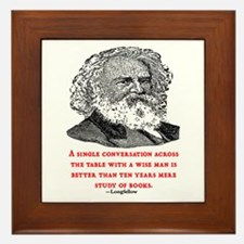 LONGFELLOW QUOTE Framed Tile