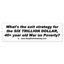 What is exit strategy for the war on Poverty