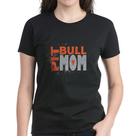 Pit Bull Mom Women's Dark T-Shirt