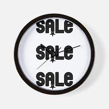 Sale Sale Sale Wall Clock