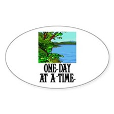 ONE DAY AT A TIME Oval Sticker (10 pk)