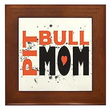 Pit Bull Mom Framed Tile