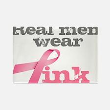 Real Men Wear Pink Rectangle Magnet