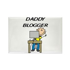 Daddy Blogger Rectangle Magnet
