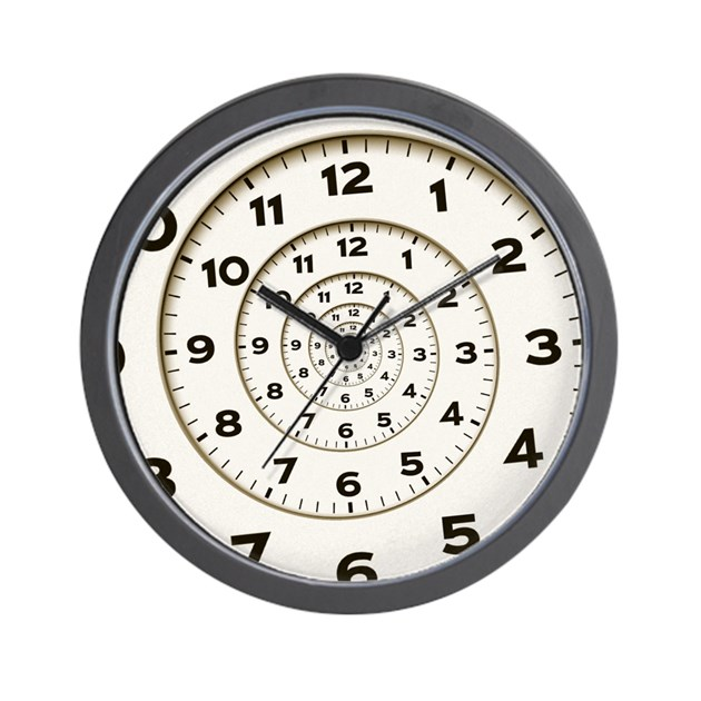 spiral small wall clock by catmachine. Black Bedroom Furniture Sets. Home Design Ideas