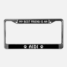 My Best Friend is an Aidi License Plate Frame