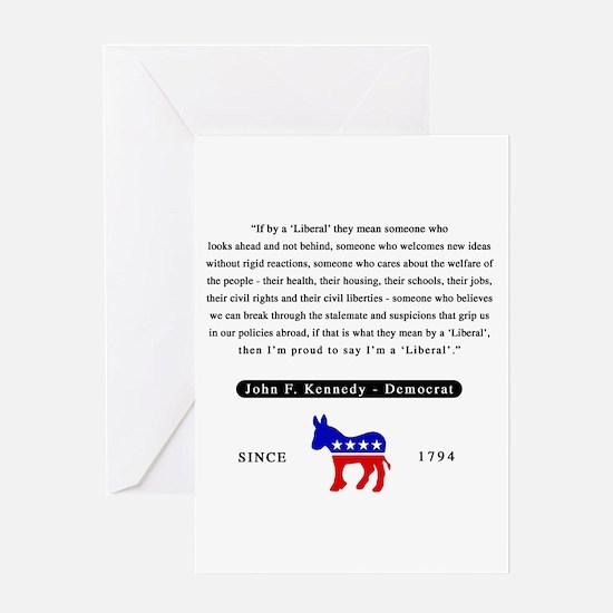 J.F.K. Greeting Card