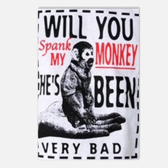 Spank my monkey Postcards (Package of 8)