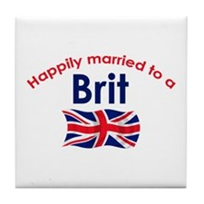 Happily Married Brit 2 Tile Coaster