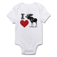 I Love Moose Infant Bodysuit