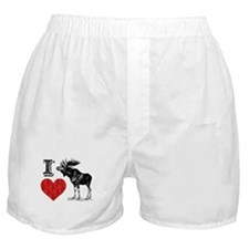 I Love Moose Boxer Shorts