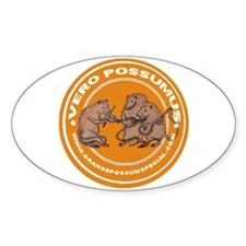 """Possums """"Yes We Can!"""" Oval Decal"""