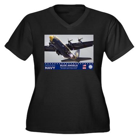 Blue Angels C-130 Hercules Women's Plus Size V-Nec