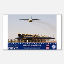 Blue Angels C-130 Hercules Rectangle Decal