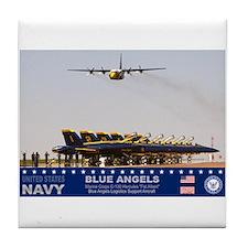 Blue Angels C-130 Hercules Tile Coaster