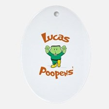 Lucas - Mr. Poopenstein Oval Ornament