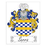 Serra Family Crest Small Poster