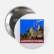 "ALASKAN WOLVES FOR OBAMA 2.25"" Button"