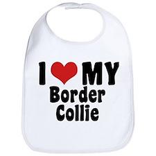 I Love My Border Collie Bib