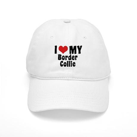 I Love My Border Collie Cap