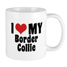 I Love My Border Collie Mug