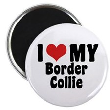 I Love My Border Collie Magnet