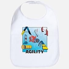 Woodcut Agility Obstacles Bib