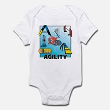 Woodcut Agility Obstacles Infant Bodysuit