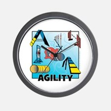 Woodcut Agility Obstacles Wall Clock