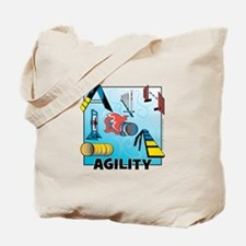 Woodcut Agility Obstacles Tote Bag