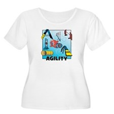 Woodcut Agility Obstacles T-Shirt