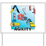 Dog agility Yard Signs