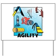 Woodcut Agility Obstacles Yard Sign