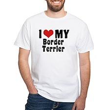 I Love My Border Terrier Shirt