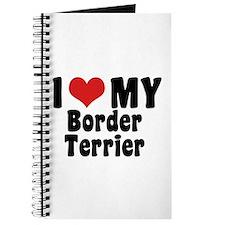 I Love My Border Terrier Journal