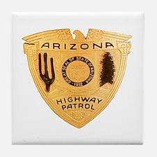 Arizona Highway Patrol Tile Coaster