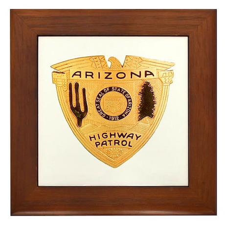 Arizona Highway Patrol Framed Tile