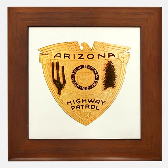 Arizona Highway Patrol Framed Tile