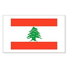 Flag of Lebanon Rectangle Decal