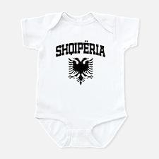 Albania Black Infant Bodysuit