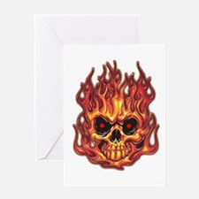 Death's Flames Greeting Card