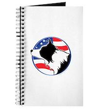 Border Collie B&W Flag Journal