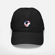 Border Collie B&W Flag Baseball Hat
