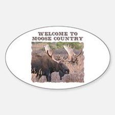 Welcome to Moose Country Oval Decal
