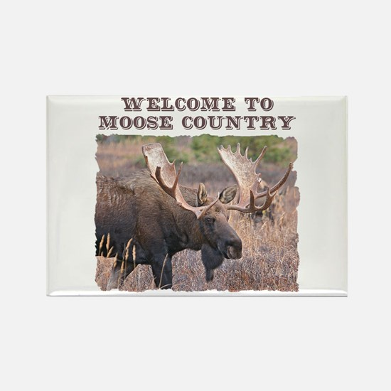 Welcome to Moose Country Rectangle Magnet