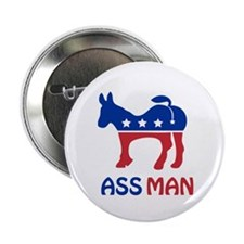 """Ass Man 2.25"""" Button"""