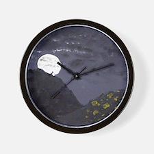 midnight raid on the pumpkin patch Wall Clock