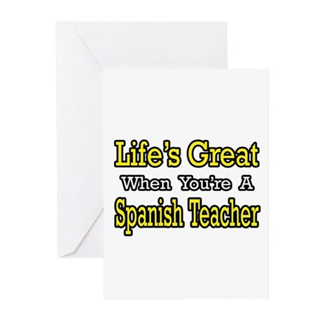 """Life...Spanish Teacher"" Greeting Cards (Pk of 10)"