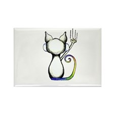 Sassy Cats Rectangle Magnet