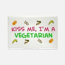 Kiss Me, I'm a Vegetarian (Rectangle Magnet)